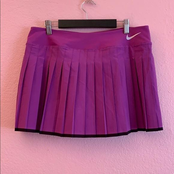 Nike Women's purple & black Athletic pleated skirt